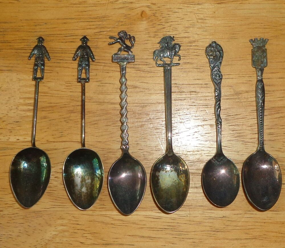 COLLECTOR SOUVENIR STERLING SILVER SPOON LOT VINTAGE ANTIQUE NILS LUXEMBOURG | eBay