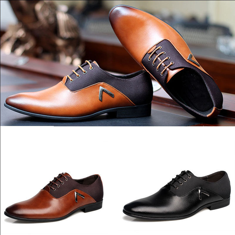 mens business casual leather shoes work casual shoes