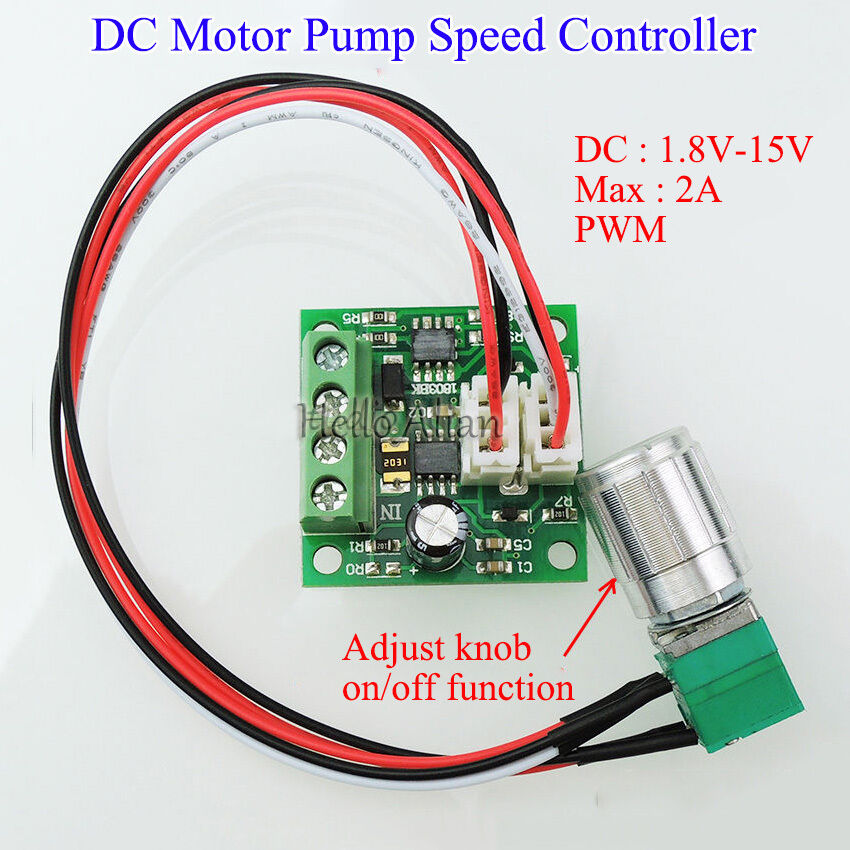 Dc 3v 6v 9v 12v 2a low voltage pwm dc motor speed for Motor speed control pwm