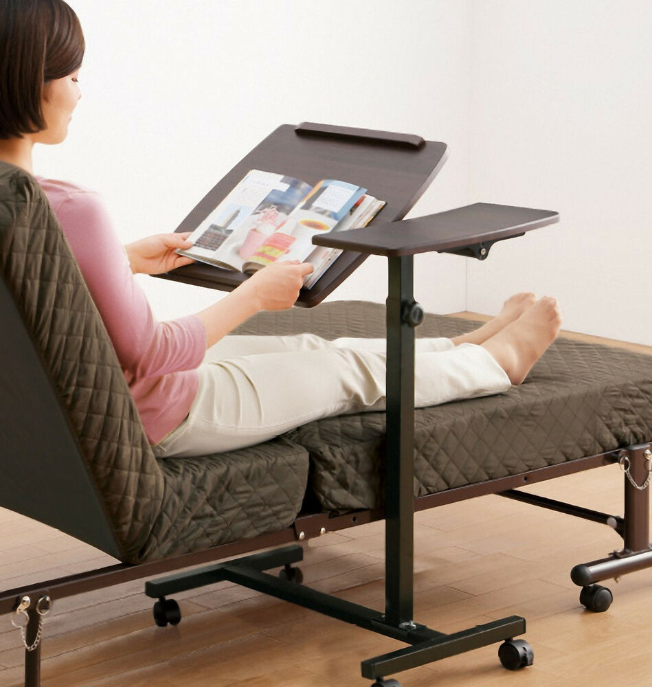 Rolling Height Angle Adjustable Laptop Sofa Couch Bed