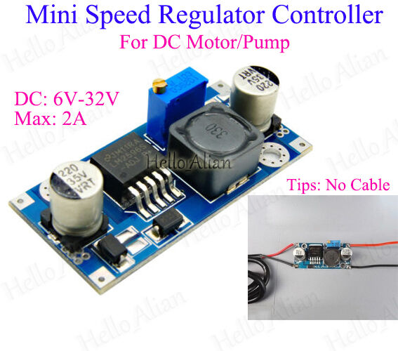 Dc 6v 24v 9v 12v 18v 2a dc motor speed controller switch for 12v dc motor controller