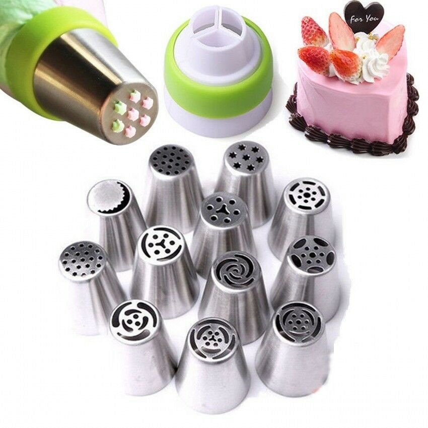 7Pcs Russian Icing Piping Nozzles Tips Cake Decor