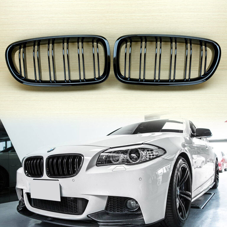 Gloss Black M5 Look Front Grille Grill For 2011-2016 BMW