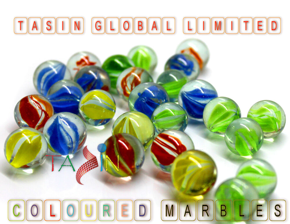 Toys For Marbles : Coloured glass marbles kids traditional toys classic