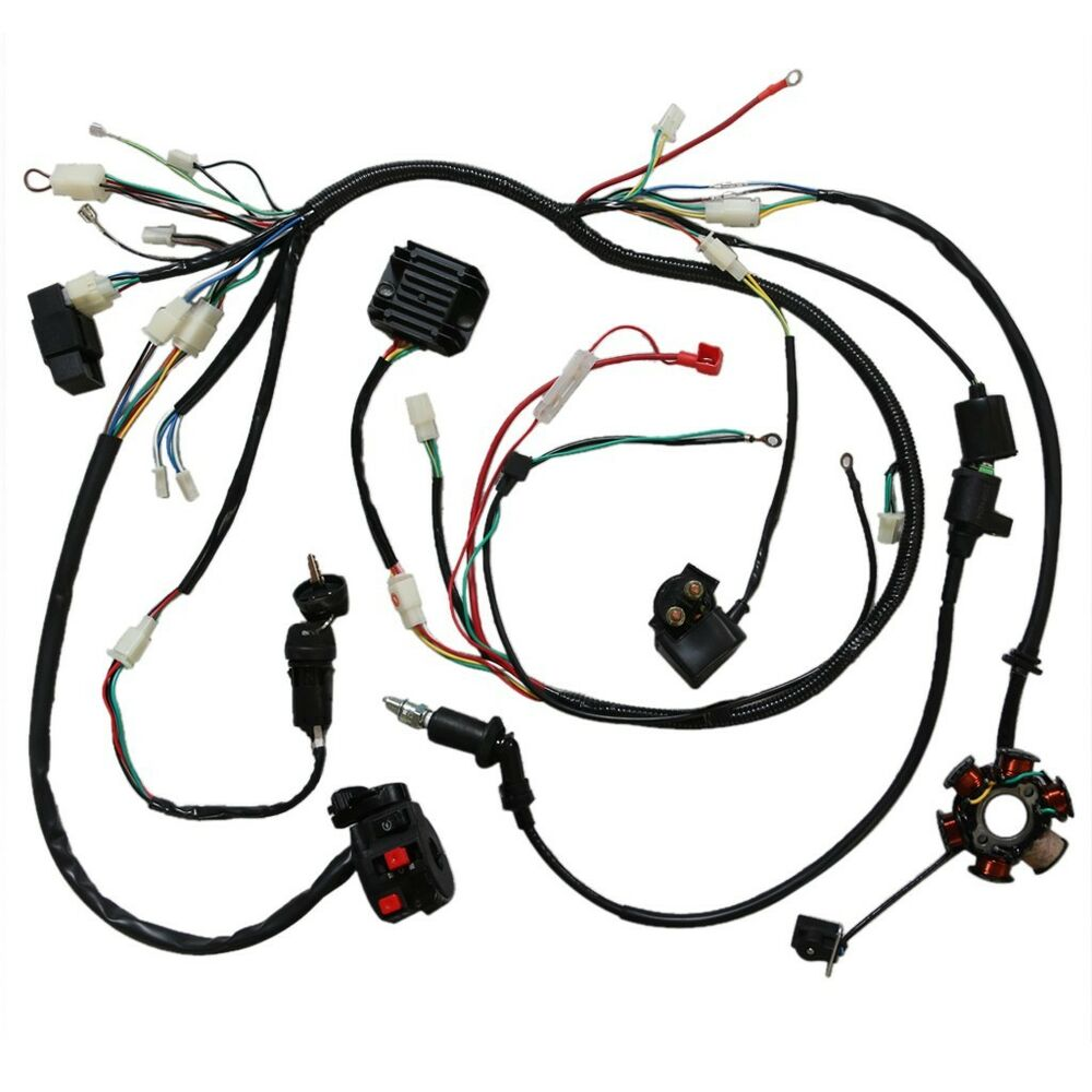 gy6 150cc electric wire wiring harness solenoid switch. Black Bedroom Furniture Sets. Home Design Ideas