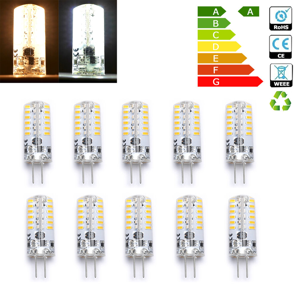 wow g4 3w 48 led 3014 smd capsule bulb replace halogen lamp light ac dc 12v ebay. Black Bedroom Furniture Sets. Home Design Ideas