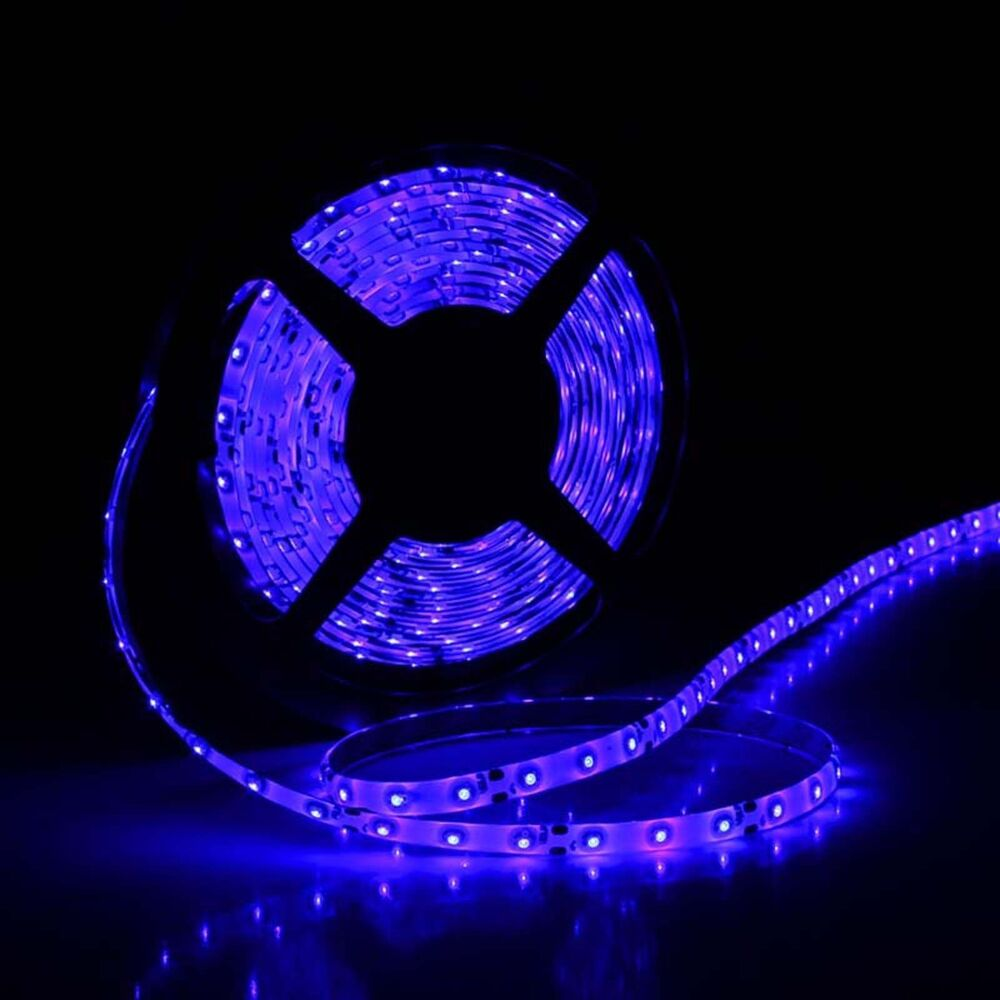 blue 16ft car boat decor waterproof 5m 3528 smd 300 led strip light flexible 12v ebay. Black Bedroom Furniture Sets. Home Design Ideas