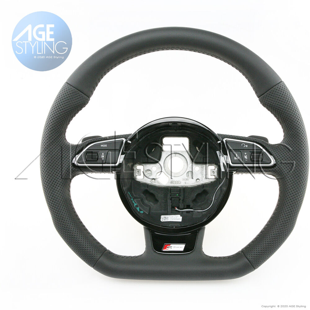 Is The Bmw 7 Series True Main Rival The Audi A8: OEM AUDI A3 A4 A5 Q3 Q5 Q7 S-Line Flat Bottom Steering Wheel W. Paddle Shifters