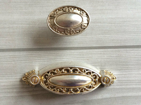 2 5 Quot Antique Silver Dresser Knob Bin Cup Drawer Pulls