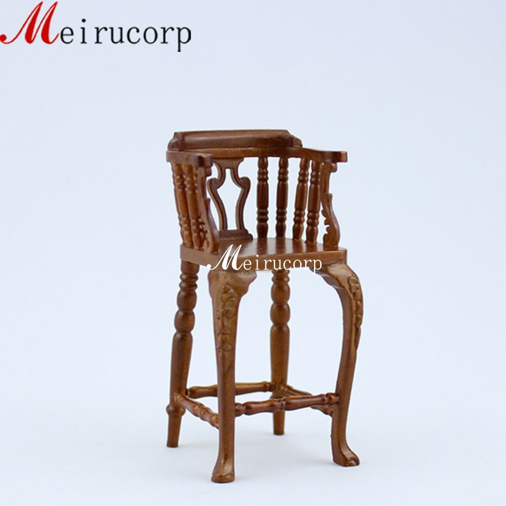 Fine1 12 scale dollhouse miniature furniture wooden handmade carving bar chair ebay Dollhouse wooden furniture