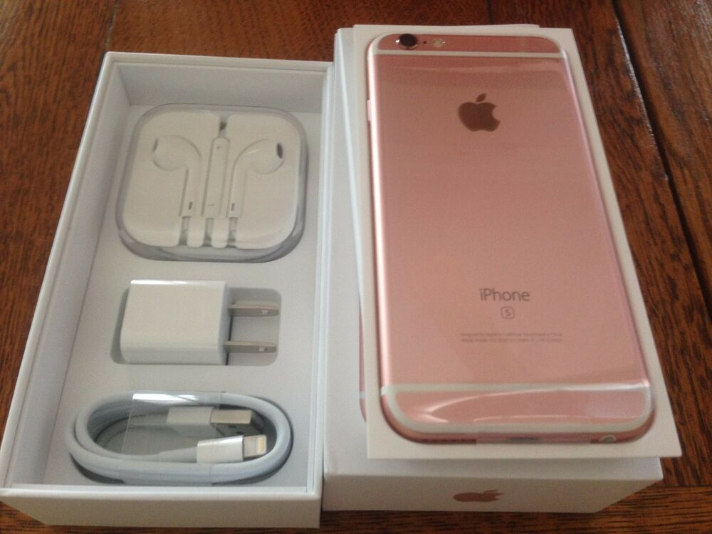 new rose gold iphone 6s plus factory unlocked tmobile at t straight talk world ebay. Black Bedroom Furniture Sets. Home Design Ideas