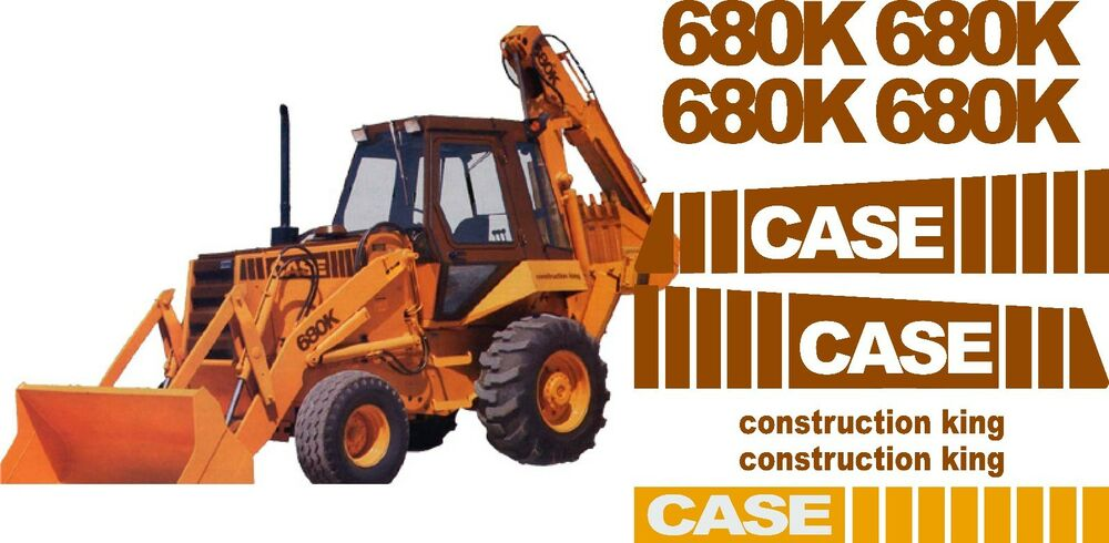Case Tractor Stickers : Case k loader backhoe construction king decals sticker