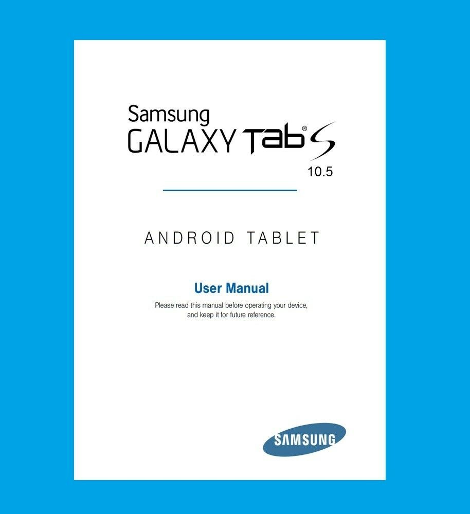 Samsung Galaxy Tab S 10 5 Model Sm Manual Guide