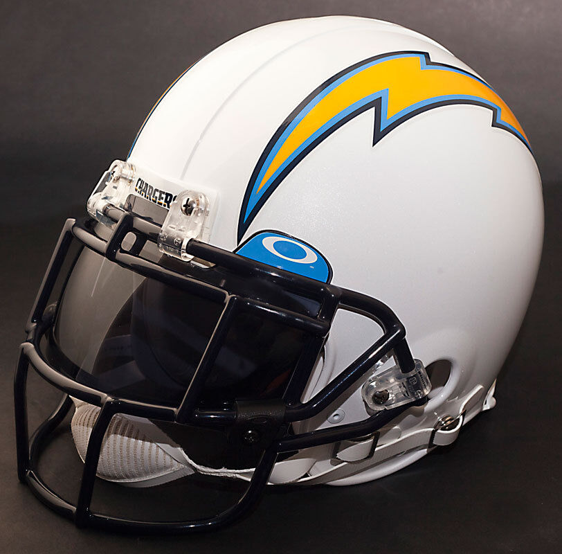 San Diego Chargers Nfl Authentic Gameday Football Helmet W
