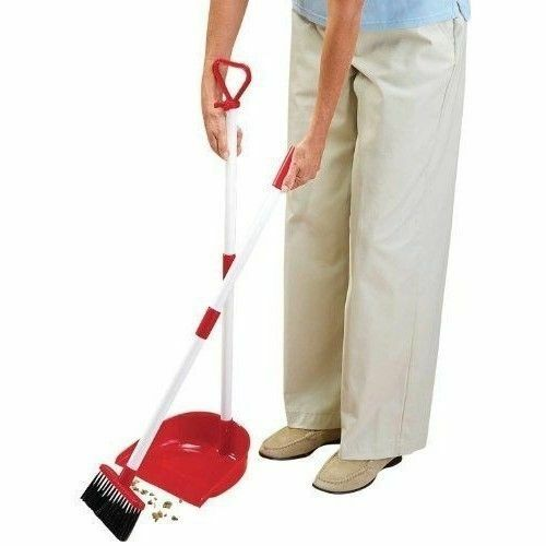 Long Handled Broom Set Portable Sweeper Duster Pan Kitchen