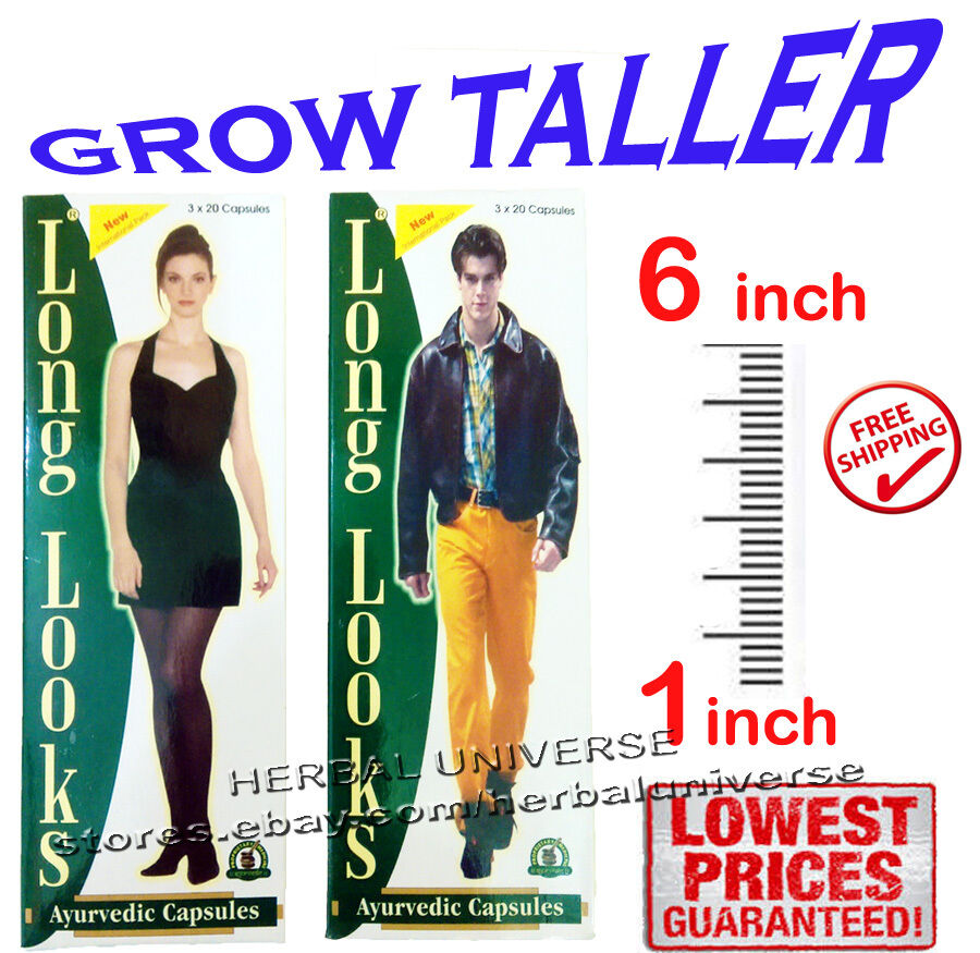 Long Looks Height Increase Gain Herbal Capsules Original ...