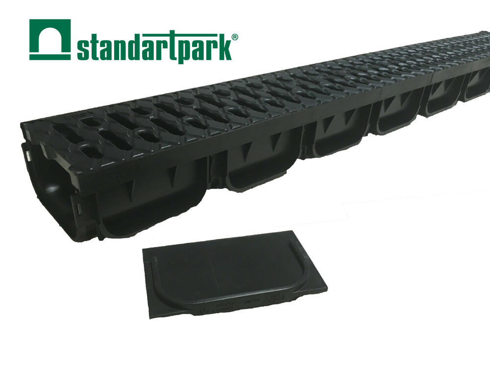 Standartpark s 39 park trench drain drainage system 4 with for Gutter drainage system