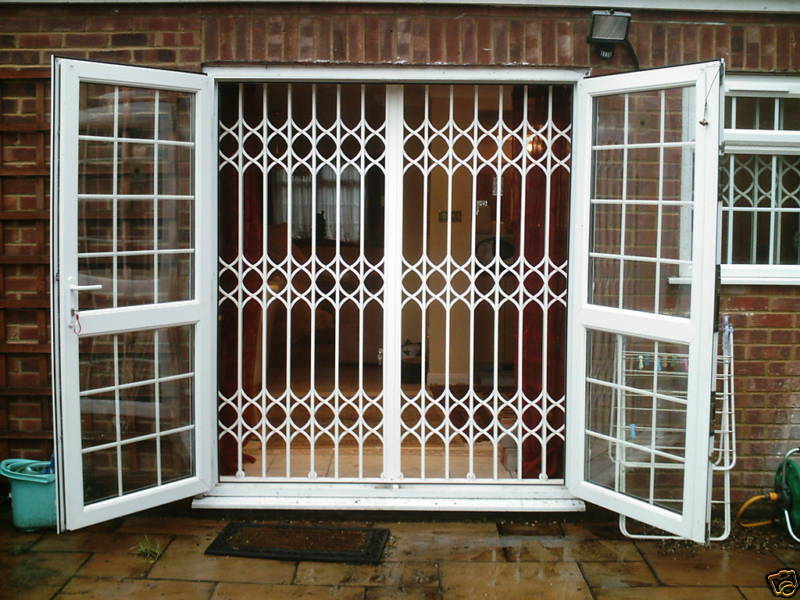 Security grilles sliding folding collapsible home