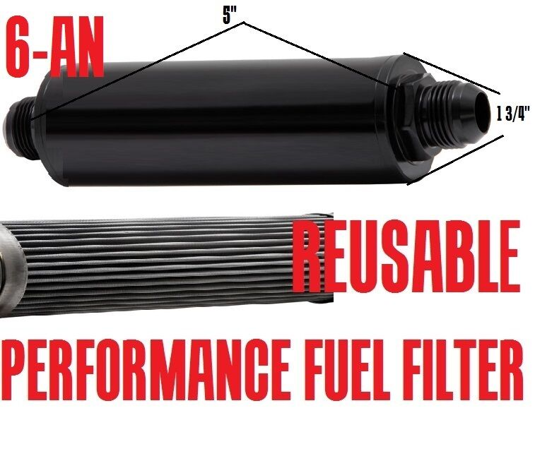 fuel injection efi performance reusable inline fuel filter