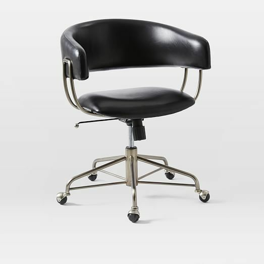 West Elm Chairs: West Elm Halifax Leather Office Chair