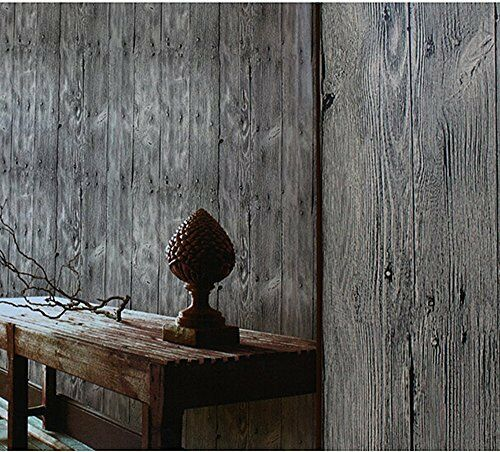 Blooming wall faux vintage wood panel wood plank wallpaper for Wood wallpaper for walls