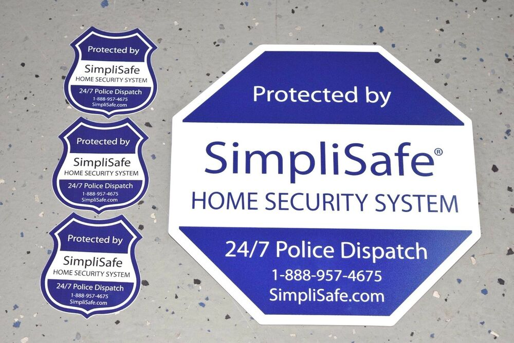 New Simplisafe Security Yard Sign Decal Post Sticker