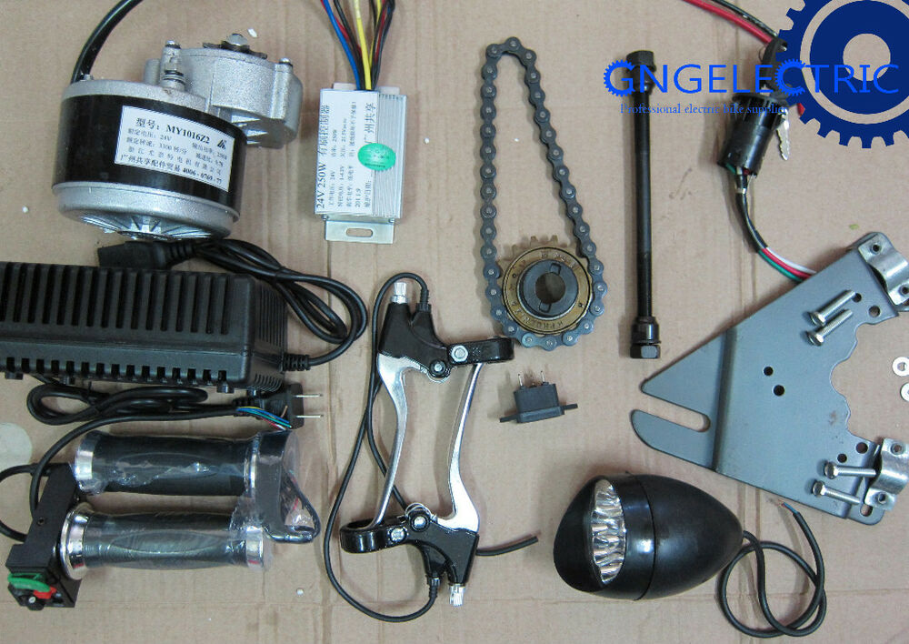 24v 250w electric motorized e bike conversion kit side for How to electric motorize a bicycle