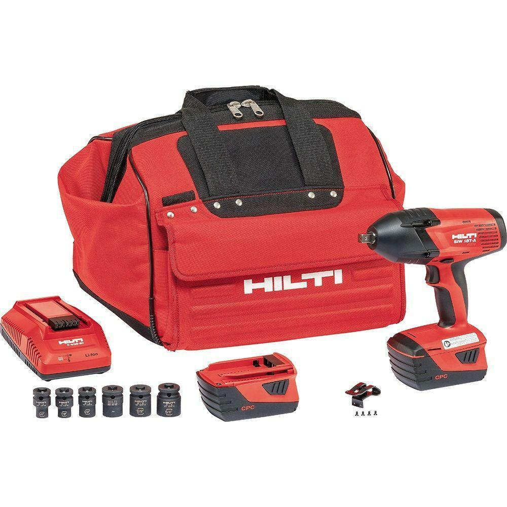 hilti siw 18t a 1 2 18v cpc impact wrench cordless kit ebay. Black Bedroom Furniture Sets. Home Design Ideas
