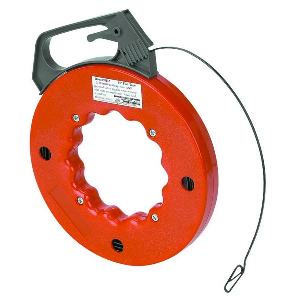 cen tech 50 fish tape cable wire puller threader