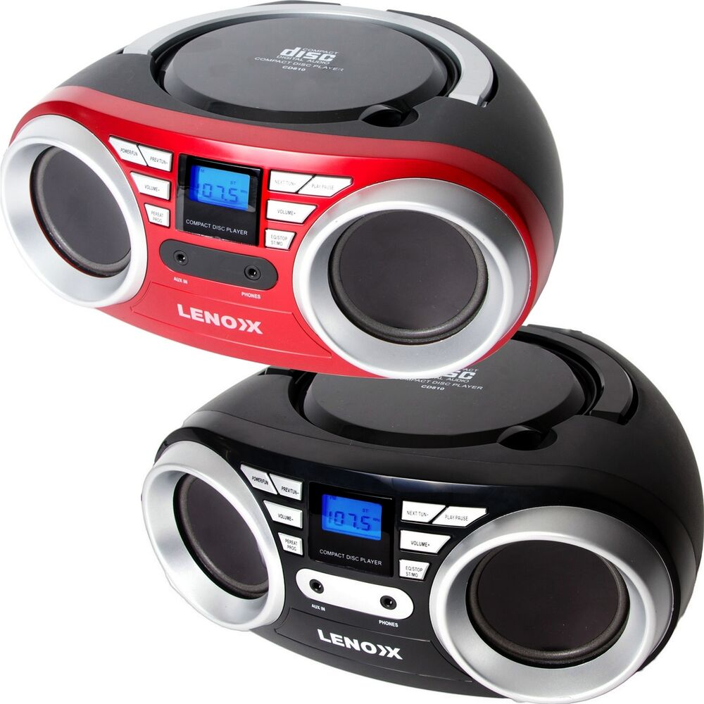 portable cd player boombox mp3 speaker stereo aux in radio. Black Bedroom Furniture Sets. Home Design Ideas