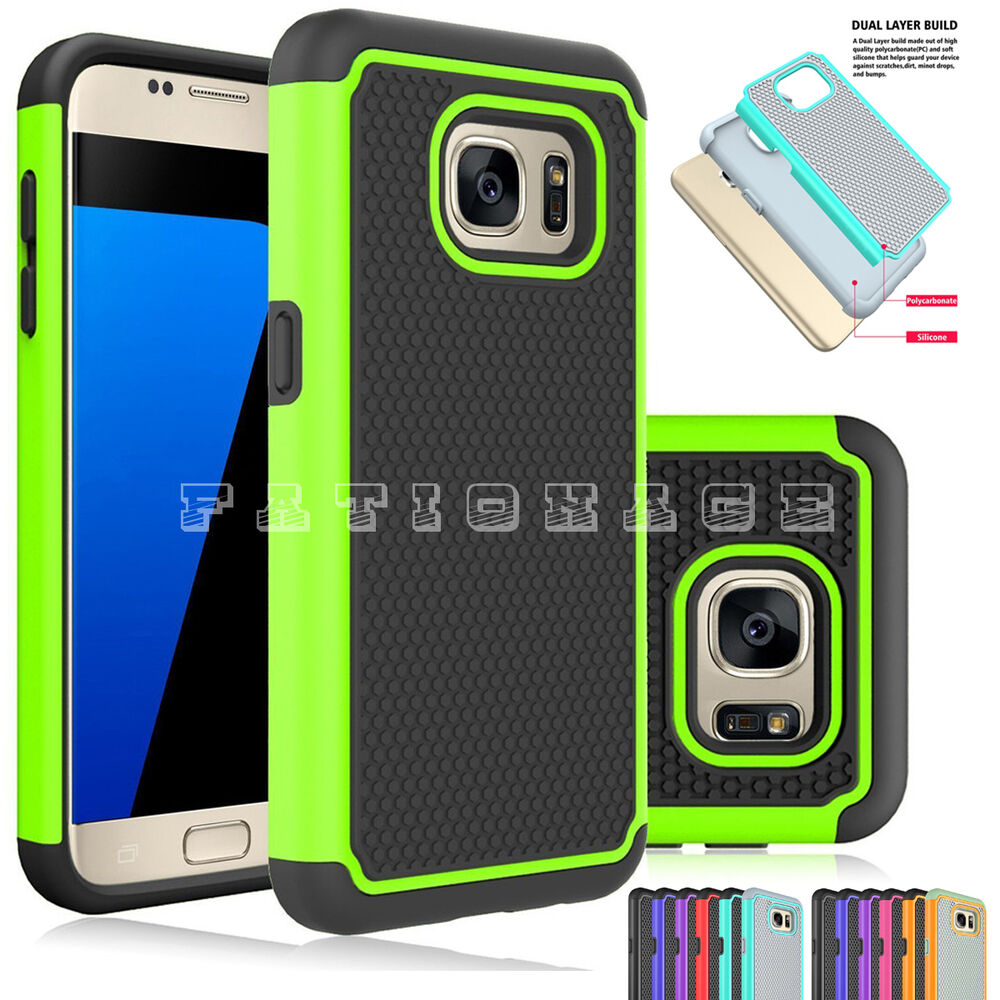 mobile phone case cover dual layers for samsung galaxy s7 s7 edge s6 s5 s4 s3 ebay. Black Bedroom Furniture Sets. Home Design Ideas