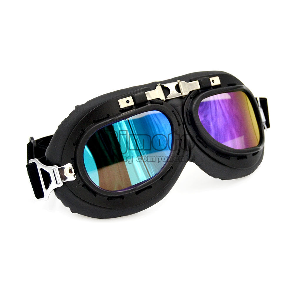 Aviator Pilot Cruiser Motorcycle Scooter Goggles Atv Uv