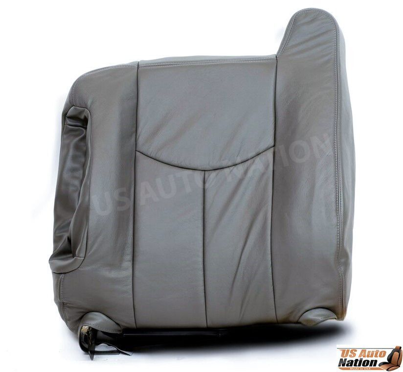 2003 2004 2005 2006 2007 chevy silverado top lean back leather seat cover gray ebay. Black Bedroom Furniture Sets. Home Design Ideas