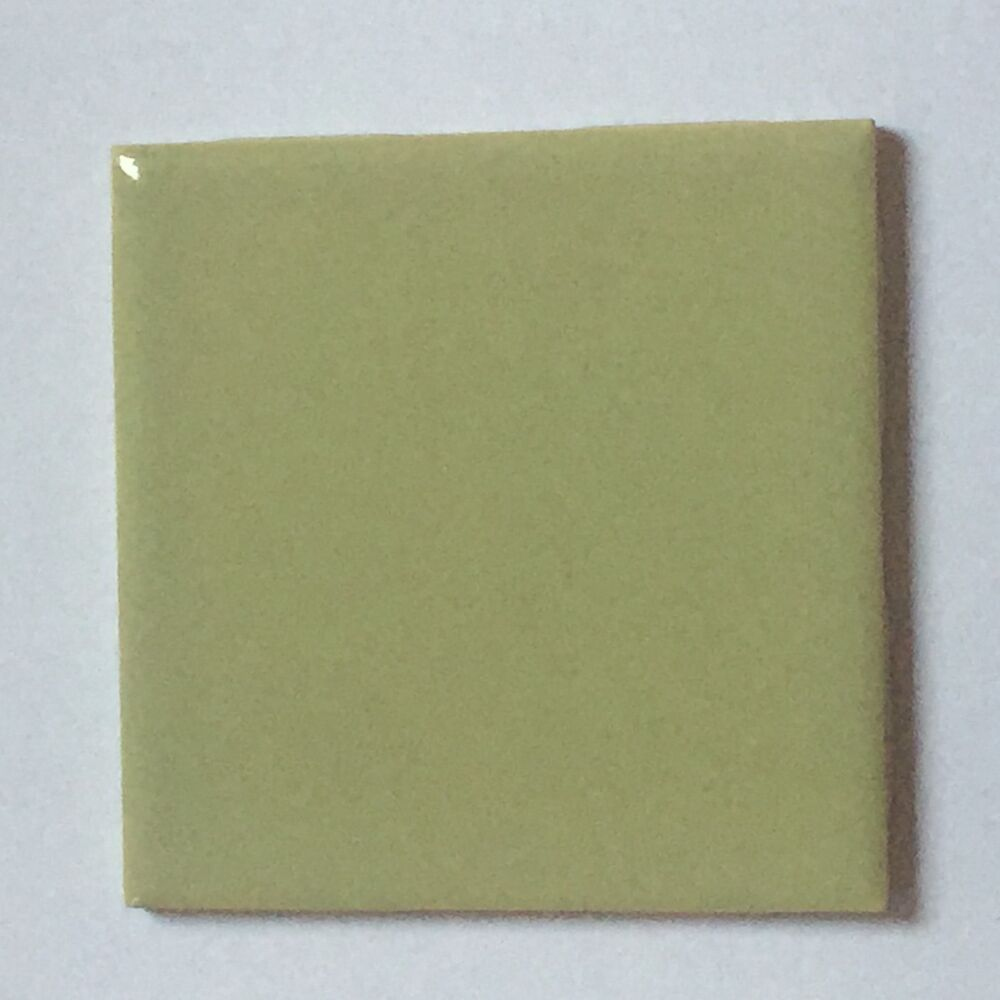 Z 692 1 Pc Vintage Ceramic Wall Tile 4 1 4 Avacado Olive Army Green Glossy Ebay