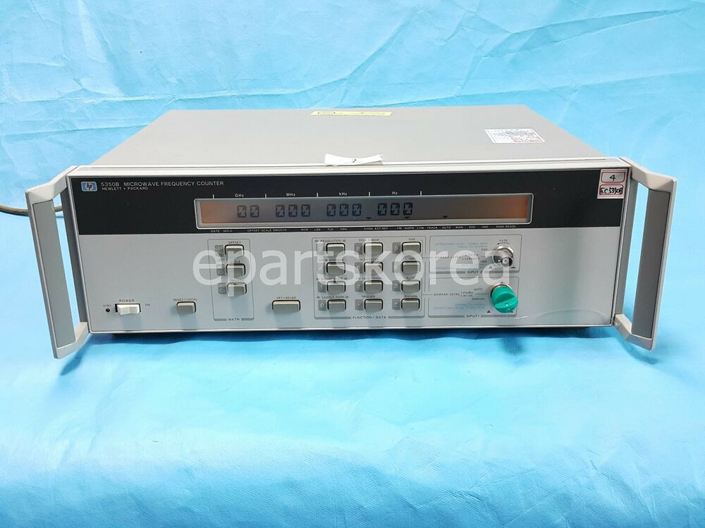 Hp Frequency Counter : Hewlett packard hp b microwave frequency