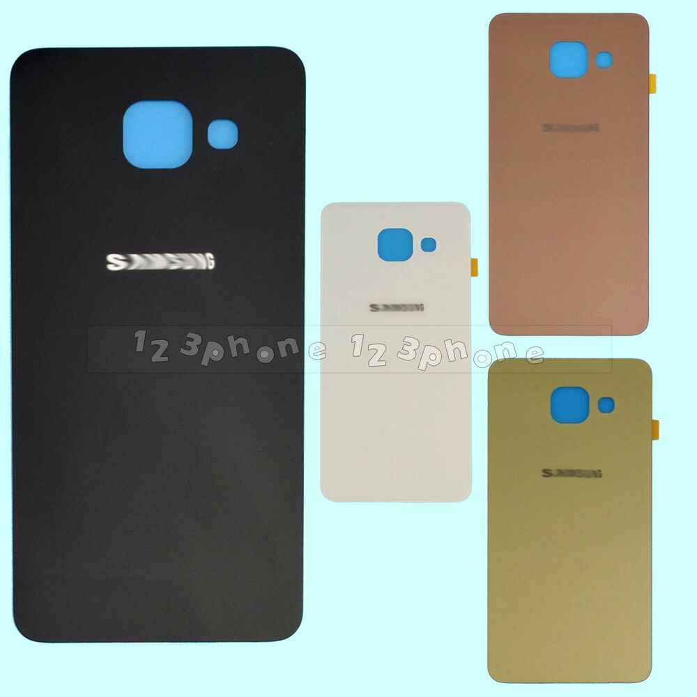 rear back glass housing battery door cover for samsung galaxy a3 a5 a7 a9 2016 ebay. Black Bedroom Furniture Sets. Home Design Ideas