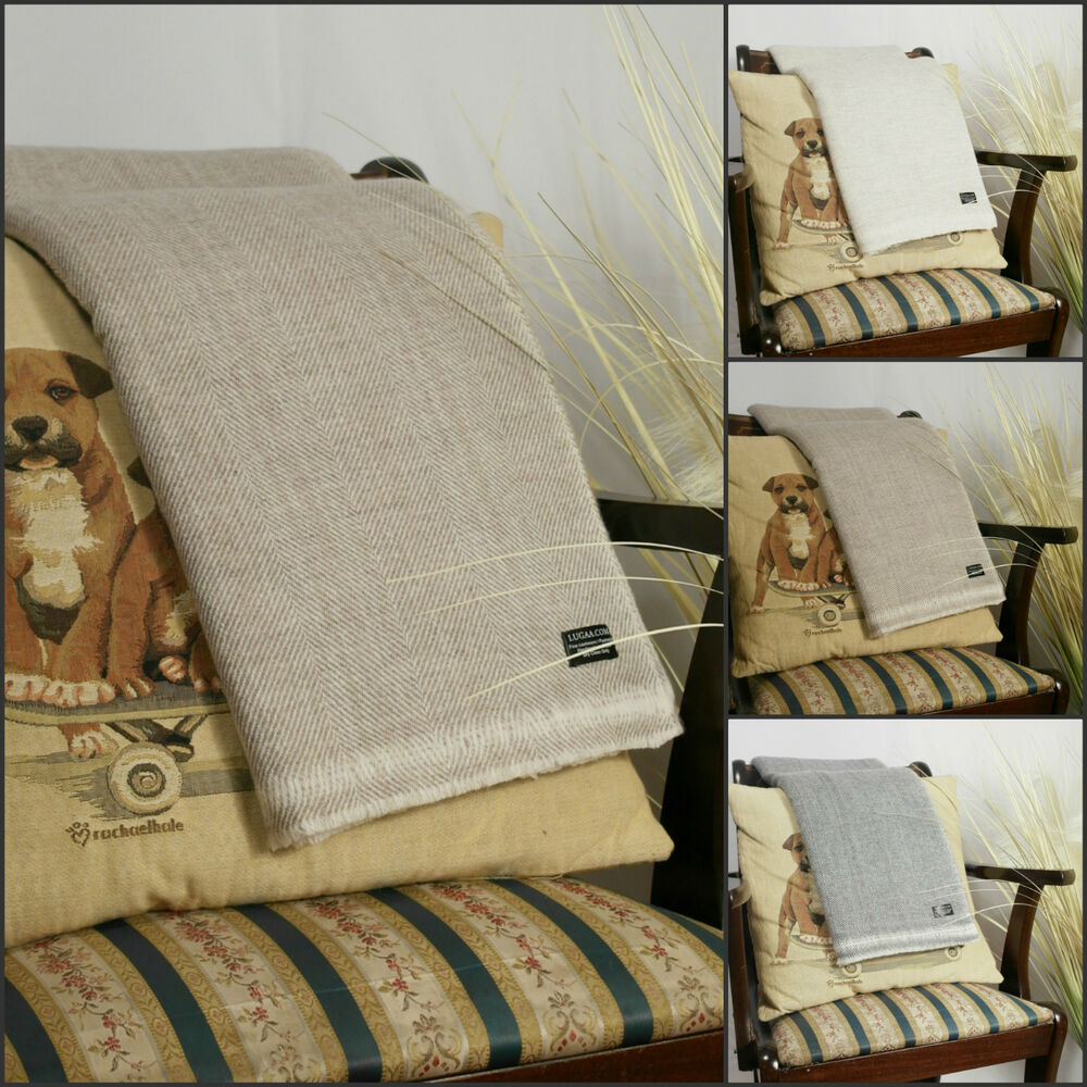 Cashmere wool sofa throws blankets bed warm soft ebay for Soft blankets and throws