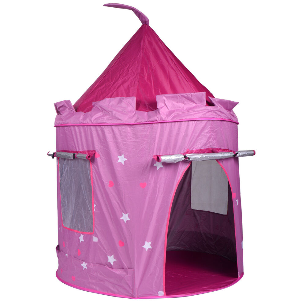 portable pink folding play kids pop up tent girl princess. Black Bedroom Furniture Sets. Home Design Ideas