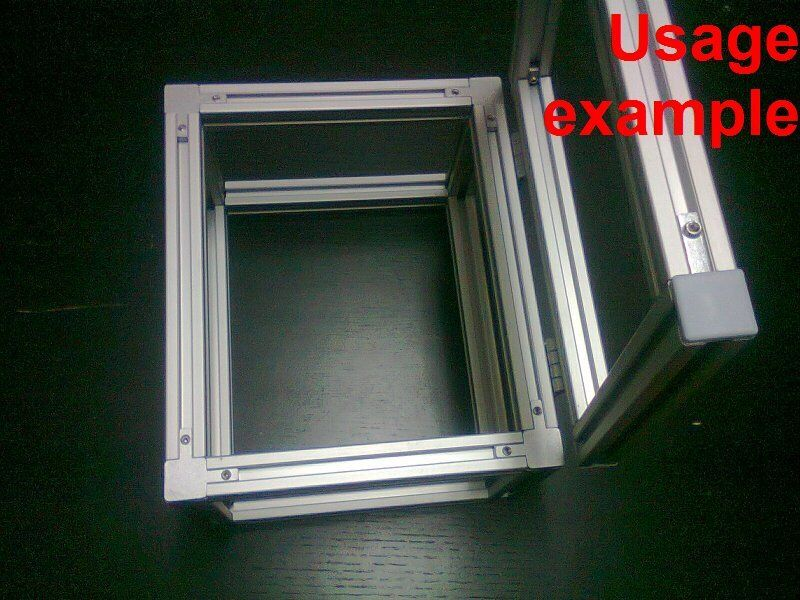 aluminum t slot extruded profile 20x20 6 box lid frame size 240x200x150mm ebay. Black Bedroom Furniture Sets. Home Design Ideas