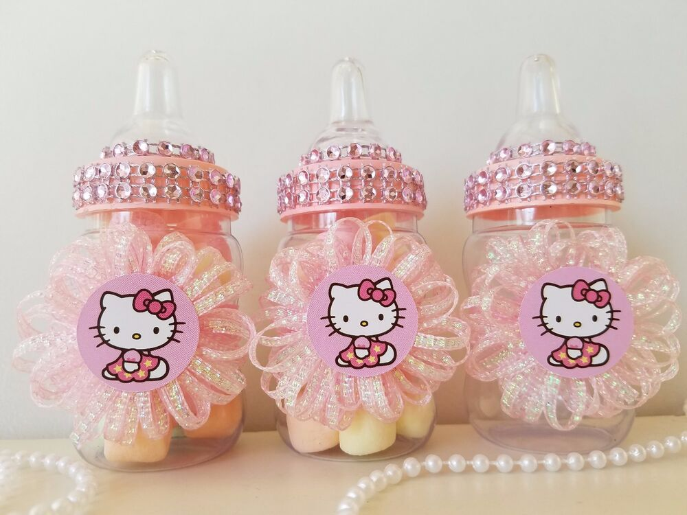12 hello kitty fillable bottles favors prizes games baby. Black Bedroom Furniture Sets. Home Design Ideas