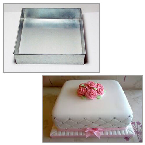 square cake pans for wedding cakes single square 12 quot wedding birthday cake tins 20354