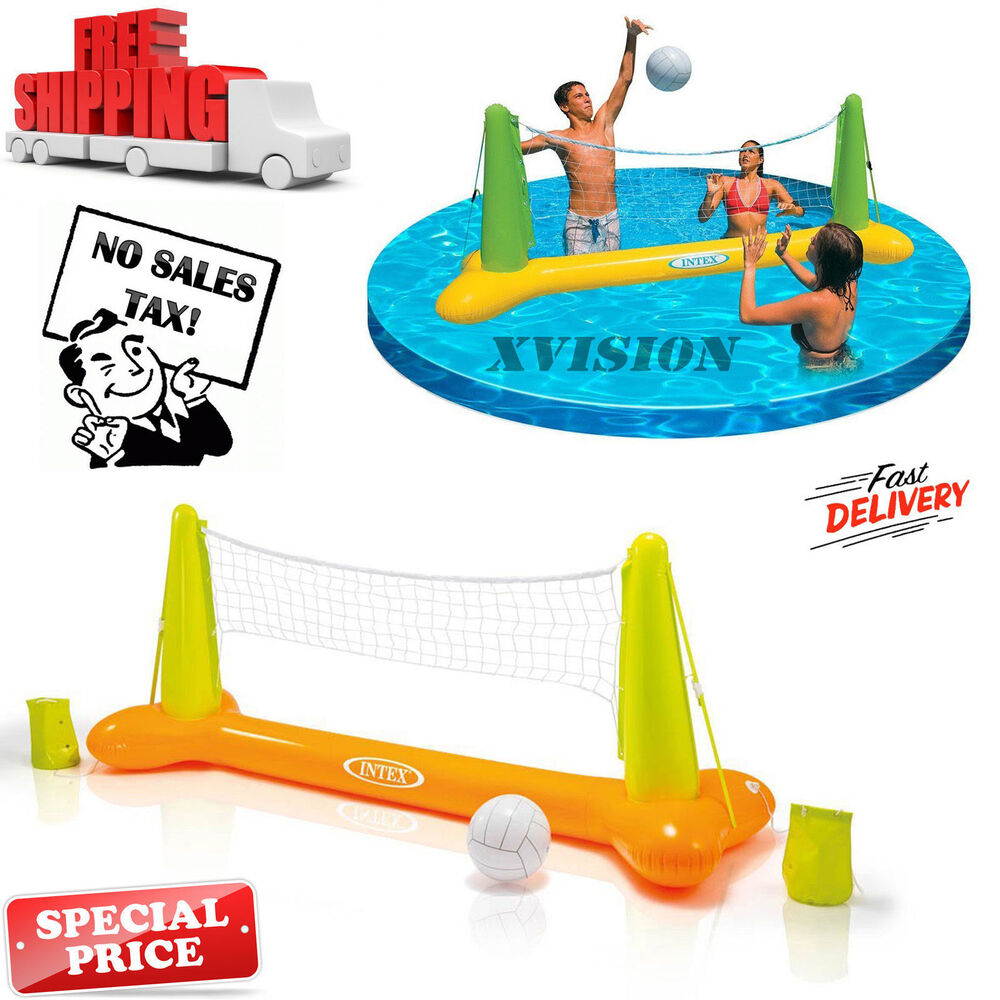 Intex Floating Inflatable Swimming Pool Toy Volleyball Game Family Kids Play Fun Ebay
