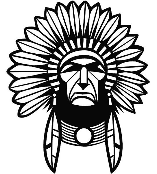 RED INDIAN CHIEF CAR DECAL STICKER | eBay