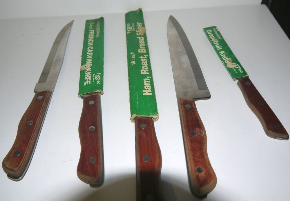 knife vintage maxam stainless steel brown knives set of 5 vintage 5 piece maxam steel kitchen knife set only for