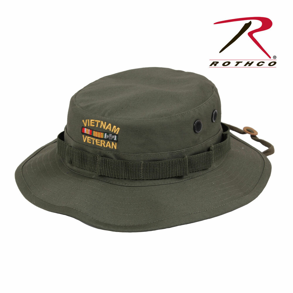0797664e84e Details about Vietnam Veteran s Boonie OD Deluxe Custom Embroidered  Military Style Hat 5911