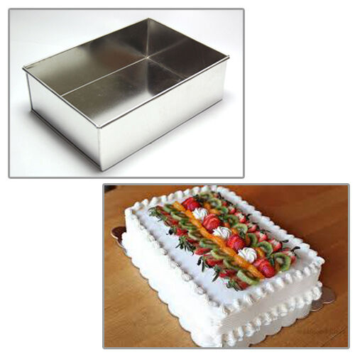 rectangle wedding cake pans single rectangle 8 quot wedding birthday cake tins 19058