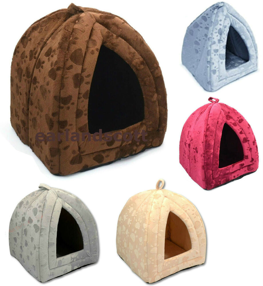 Dog Cat Kitten Soft Igloo Bed Warm Cave House Mat Luxury