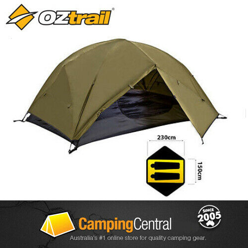 oztrail instant up 2 person tent full fly quick pitch mozzie dome mesh pop ebay. Black Bedroom Furniture Sets. Home Design Ideas