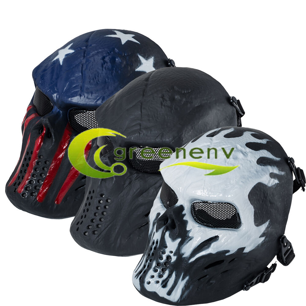 airsoft paintball tactical full face protection skull mask
