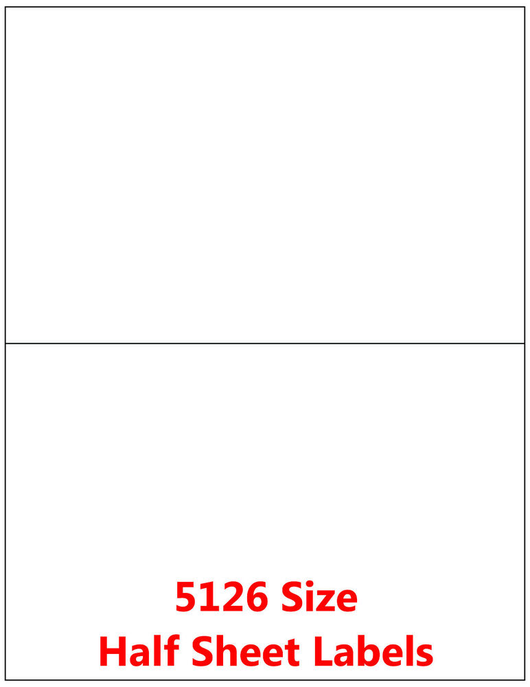 50 half sheet address mailing labels self adhesive paypal for Half page labels